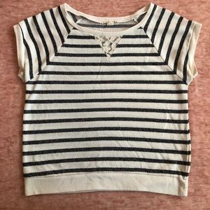 White and black stripped top